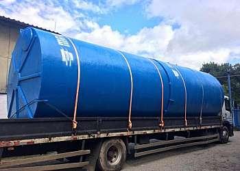 Tanque de fibra de vidro para tratamento de água